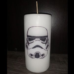 Other - Storm Trooper Candle - Handmade